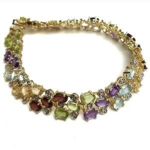 Ross Simons Gemstone Sterling Tennis Bracelet
